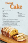 Carrot Cake Recipe Postcard