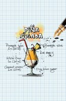 Pina Colada Recipe Postcard