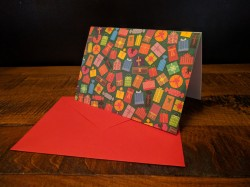 Colourful Presents Season's Greeting Card
