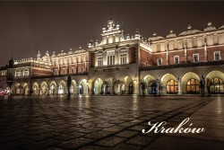 Cracow - The Cloth Hall by Night