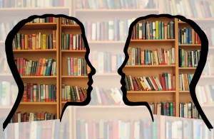 In Love with Books Postcard