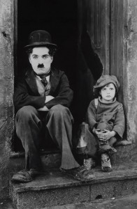Charlie Chaplin and Jackie Coogan