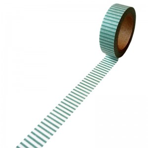 Deco tape - Green stripes