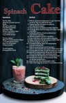 Spinach Cake Recipe Postcard