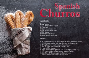 Churros Recipe Postcard