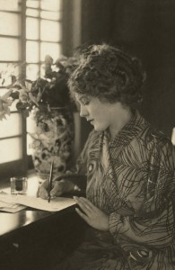 Mary Pickford writing letters