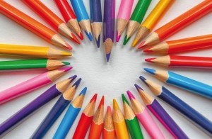 Colouring Pencil Set Postcard