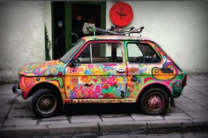 Colourful Fiat 126 p