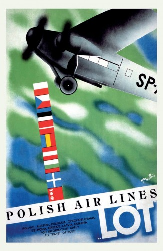 Lot Airlines Poster