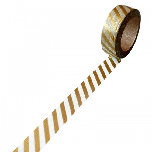 Paper deco tape - Golden Stripes